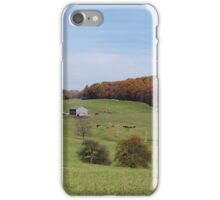 Fall on the farmland iPhone Case/Skin
