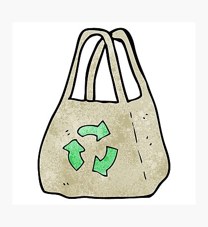 reusable bag cartoon Photographic Print