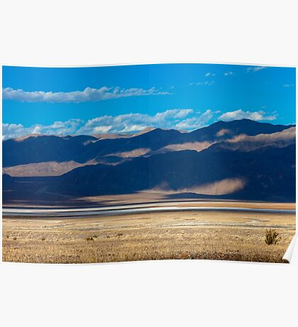 landscape of the route crossing the Death Valley Poster
