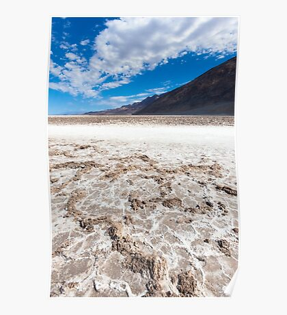 Salted lake in the Death Valley Poster