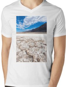 Salted lake in the Death Valley Mens V-Neck T-Shirt