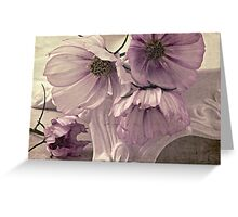 Cosmos On Pedestal Greeting Card