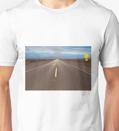 the route crossing the Death Valley Unisex T-Shirt