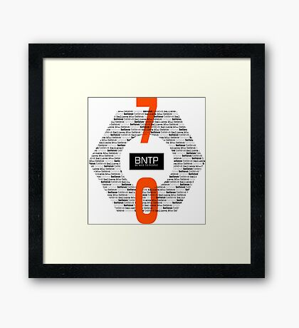 Be Nice To People Excellent Typography Design Framed Print