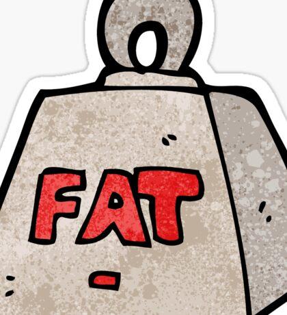 cartoon weight with fat text Sticker