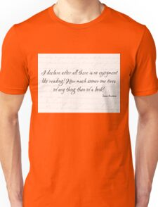 Jane Austen Quote - No Enjoyment Like Reading!  Unisex T-Shirt