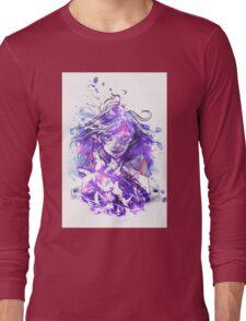 Light and Purple Long Sleeve T-Shirt