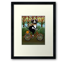 Cat on a Bicycle  Framed Print