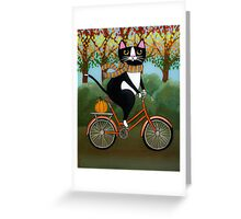 Cat on a Bicycle  Greeting Card
