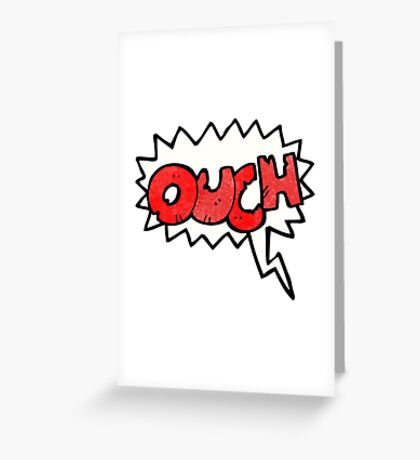 ouch comic book symbol Greeting Card