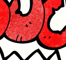 ouch comic book symbol Sticker