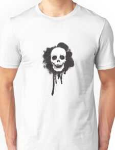 graffiti spray paint stencil skull Unisex T-Shirt