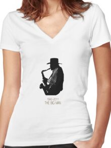 The Big Man Women's Fitted V-Neck T-Shirt