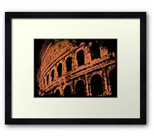 Rome - Colosseum in orange Framed Print