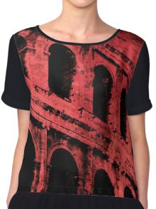 Rome - Colosseum in Red Chiffon Top