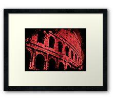 Rome - Colosseum in Red Framed Print