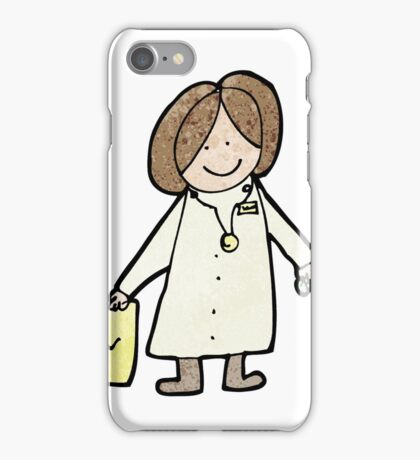 child's drawing of a friendly doctor iPhone Case/Skin