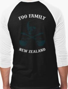 Foo Fam New Zealand Men's Baseball ¾ T-Shirt