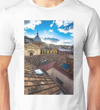 Panorama from the roofs of Naples Unisex T-Shirt