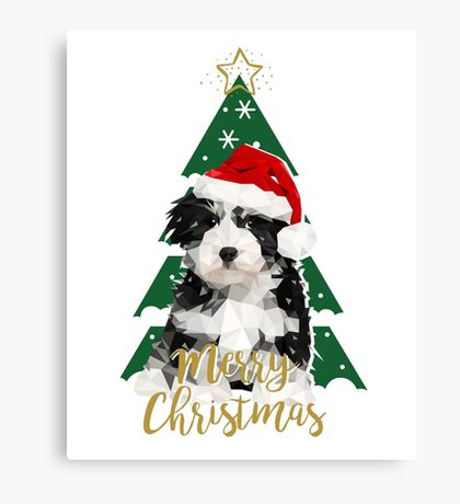 A Puppy for Xmas Canvas Print