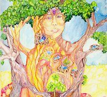She Wears Nature by LilyDiamondArt