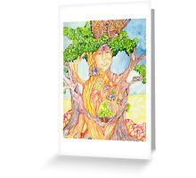 She Wears Nature Greeting Card