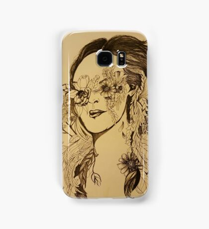 Flower gir Samsung Galaxy Case/Skin