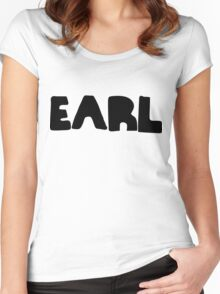 Earl Version 1 Black Ink Women's Fitted Scoop T-Shirt