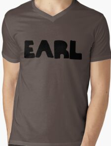 Earl Version 1 Black Ink Mens V-Neck T-Shirt