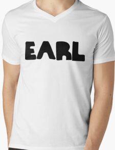 Earl Version 1 Black Ink Mens V-Neck T-Shirt