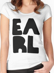 Earl Version 2 Black Ink Women's Fitted Scoop T-Shirt