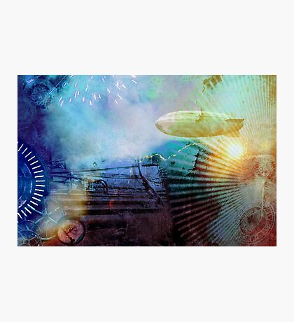 Steampunk style colorful design Photographic Print