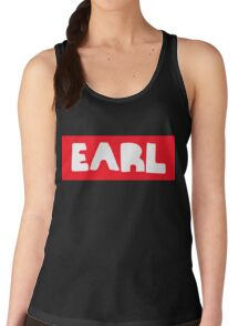 Earl Sweatshirt White on Red Women's Tank Top
