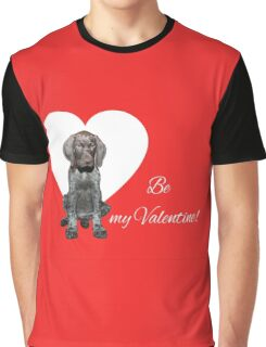 Glossy Grizzly Be my valentine Graphic T-Shirt