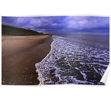 Marske on Sea, North Yorkshire, England, 24 October 2014 Poster