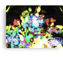 Laser Lights at Night Canvas Print