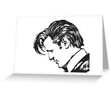 Matt Smith as The Doctor Greeting Card