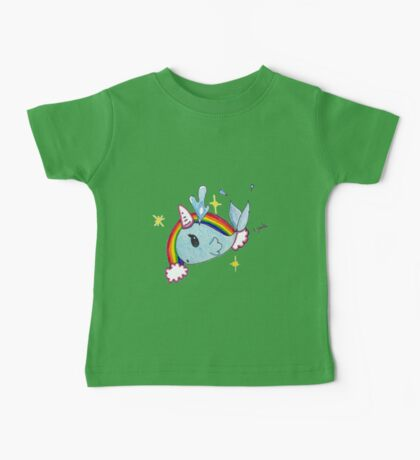 Fanciful narwahl; unicorn of the sea Baby Tee