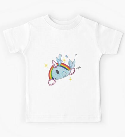 Fanciful narwahl; unicorn of the sea Kids Tee