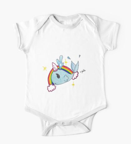 Fanciful narwahl; unicorn of the sea One Piece - Short Sleeve