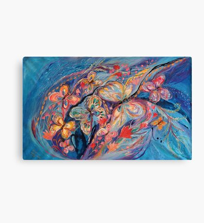 The Butterflies on Blue Canvas Print