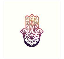 Sunset Fatima Hand Hamsa Art Print