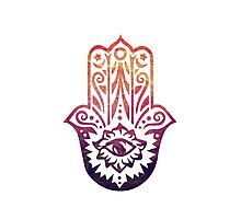 Sunset Fatima Hand Hamsa Photographic Print