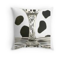 Glass Distortion with Spots and Stripes  Throw Pillow