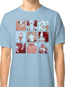 Red, White, Pink and Blue Classic T-Shirt