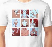 Red, White, Pink and Blue Unisex T-Shirt