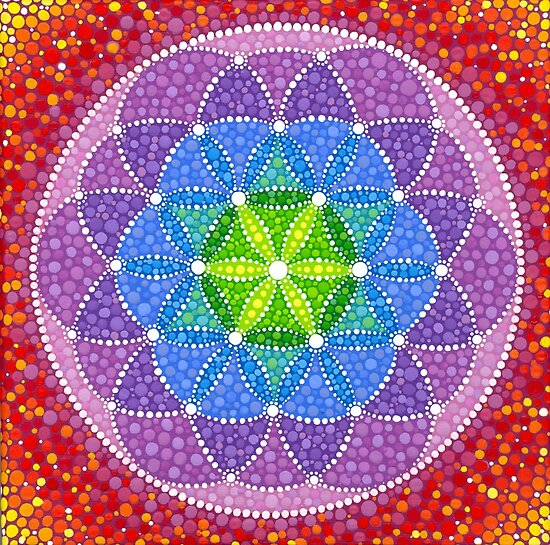 Sunny Flower of Life by Elspeth McLean