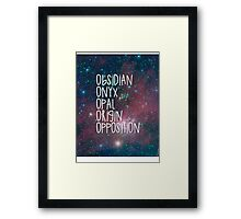 The Lux Series - Galaxy Framed Print