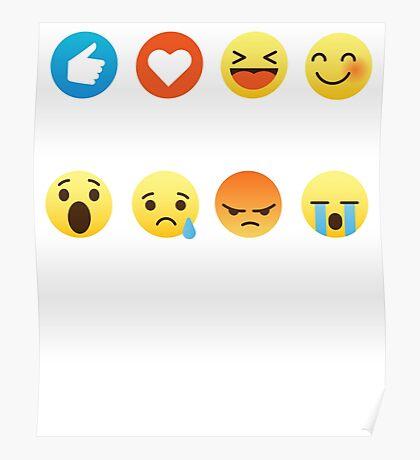 I Love Trump Emoji Emoticon Funny Graphic Design T-Shirt Poster