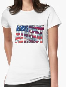 USA ATHEIST Womens Fitted T-Shirt